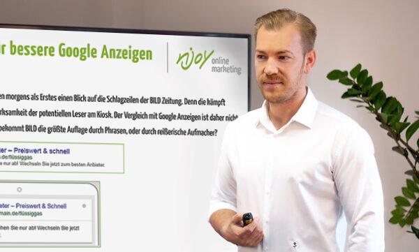 Google Ads Seminar Daniel Heidinger | njoy online marketing