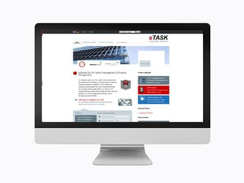 Webdesign Referenz eTask vorher