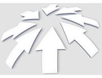 Auf einen Punkt zeigende Pfeile symbolisieren eine Form der Content Curation: Aggregation.