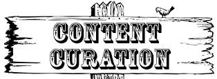 Ein Wegzeichen mit dem Schriftzug Content Curation symbolisiert den Weg zum kuratierten Inhalt.