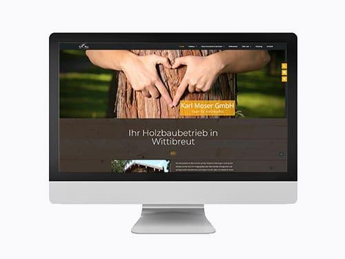 Webdesign Referenz Moser nachher