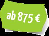 Preisschild 875€