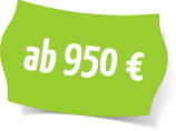 Preisschild 950€